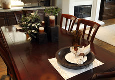 Residential dining room Royalty Free Stock Photography