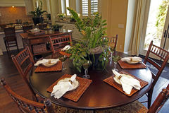 Residential dining room Royalty Free Stock Images