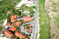 Residential district aerial view Royalty Free Stock Photography
