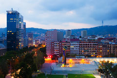 Residential district at Barcelona in evening Royalty Free Stock Image