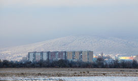 Residential district in Bratislava. At winter Stock Photo