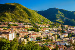 Residential district of Cefalu Stock Photos