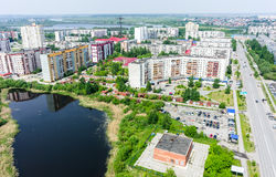Residential district and Gipsy lake. Tyumen.Russia Stock Photography