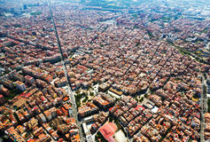 Residential district from helicopter. Barcelona Stock Image