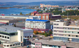 Residential district in the Irkutsk, Russia. Royalty Free Stock Image