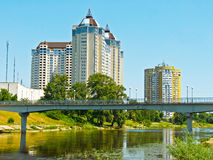 Residential district in Kiev. Residential area in the center of Kiev (''Rusanivka royalty free stock photography
