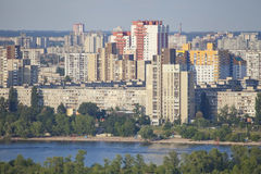 Residential district in Kiev. Royalty Free Stock Photo