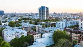 Residential district in Kiev in spring evening Stock Image
