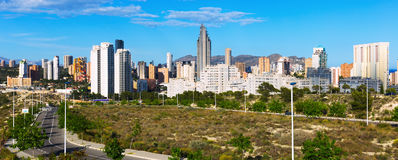 Residential district at new european city. Benidorm. Spain Stock Image