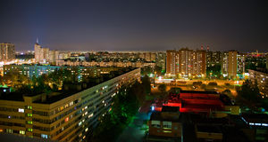 Residential District at Night Stock Image