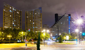 Residential district  in night. Valencia Royalty Free Stock Image