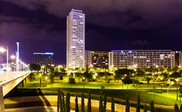 Residential district   in night. Valencia, Spain Stock Images