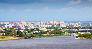 Residential district at Nizhny Novgorod Royalty Free Stock Photography