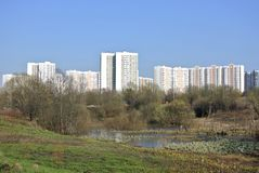 Residential district Novo-Peredelkino West district of Moscow Stock Image