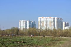 Residential district Novo-Peredelkino West district of Moscow Royalty Free Stock Photo