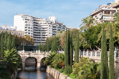 Residential district of Palma de Mallorca. Old town and residential district of Palma de Mallorca Stock Photography