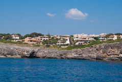 Residential district and the rocky shore, Majorca Royalty Free Stock Photo