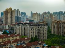 Residential district in Shanghai, China stock photos
