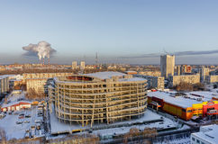 Residential district 4. Tyumen Royalty Free Stock Photography