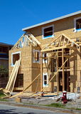 Residential district,   village, construction, ownership, housing, real estate,  construction, site, built, material,   wood,  ply Royalty Free Stock Photography
