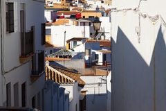 Residential districts of andalucian town Stock Photos