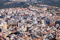 Residential districts in andalusian city.  Jaen, Spain Stock Images
