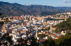 Residential districts in andalusian city.  Malaga Stock Photos