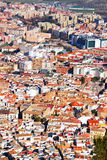 Residential districts in andalusian town.  Jaen Royalty Free Stock Photography