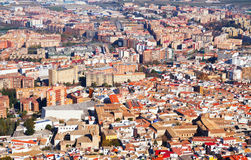 Residential districts in andalusian town.   Jaen Royalty Free Stock Images