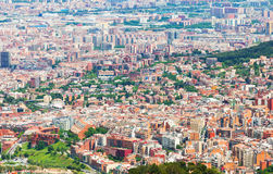 Residential districts of Barcelona city Royalty Free Stock Photo