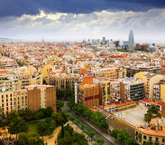 Residential districts of Barcelona city from Sagrada Familia Stock Photos