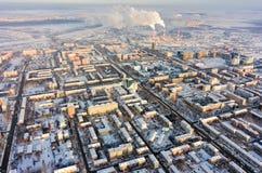 Residential districts on Melnikayte street. Tyumen Royalty Free Stock Images