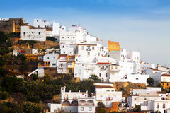 Residential districts in spanish town. View of residential districts in spanish town.   Arcos de la Frontera, Spain Royalty Free Stock Photos