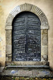 Residential doorway in  Lucca, Tuscany, Italy Royalty Free Stock Photo