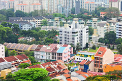 Residential downtown in Singapore Royalty Free Stock Images