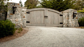 Residential Driveway Gate Stock Photos