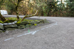 Residential driveway prepared for paving Royalty Free Stock Photography