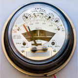 Residential electric power meter Royalty Free Stock Photo