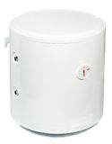 A residential electric water heater stock images