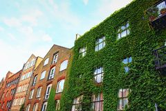 Residential English houses Wapping Wall London England. Pretty houses on Wapping Wall. Wapping Wall is a street located in the East End of London at Wapping in royalty free stock images