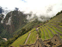 Residential and the field section of Machu Picchu Stock Image