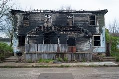 Residential Fire 0646. Residential property loss due to a fire. Damage and displacement. Insurance claim stock photo