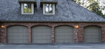 Residential Garage Doors Royalty Free Stock Photo