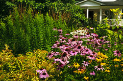 Residential garden landscaping Stock Photos