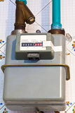 Residential gas meter Royalty Free Stock Photography