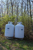 Residential Gas Tanks Stock Image