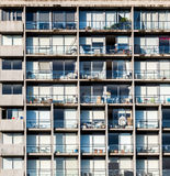 Residential high rise building closeup stock images