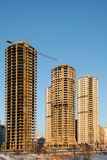 Residential highrises under construction Stock Images