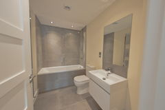 Residential home bathroom Royalty Free Stock Image