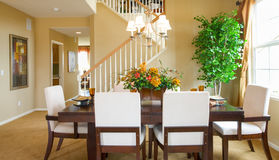 Residential home Dining Room Royalty Free Stock Photo